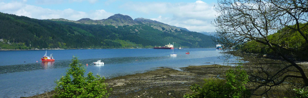 View from The Croft Loch Long