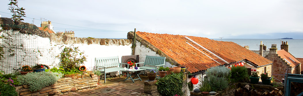 Seating area with sea views