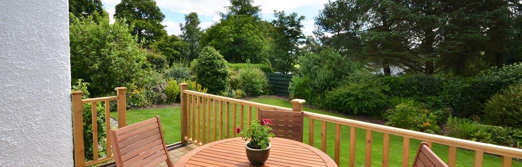 Raised deck area