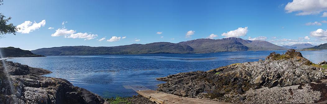 View from shore over Loch Carron below Nead An Eoin