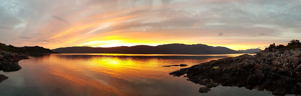 Sunset over Loch Carron below Nead An Eoin