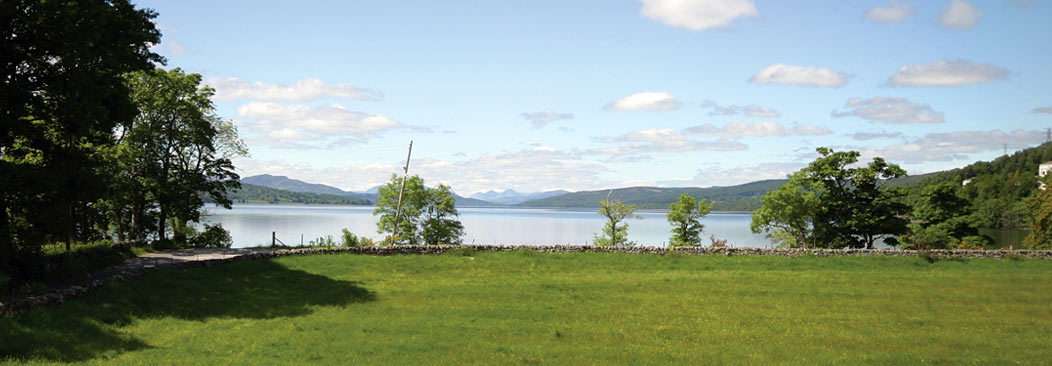 View from side of Craig Var over Loch Rannoch