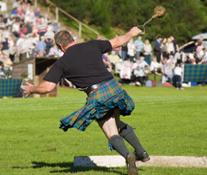 Man Throwing Weight at Highland Games