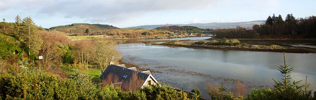 View over Pier Cottage