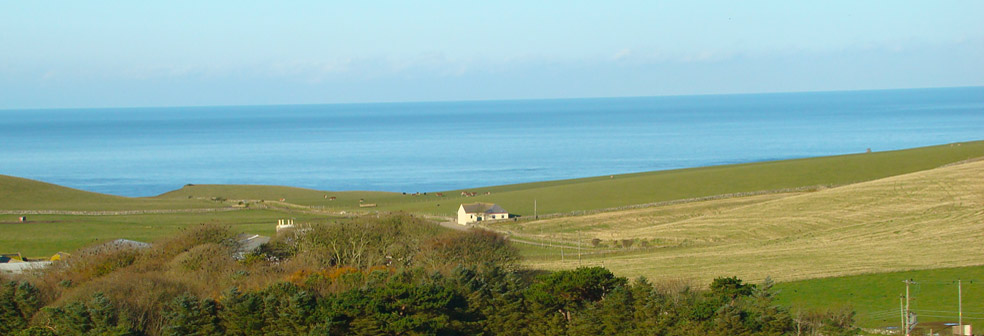 Nearby view of the Irish Sea