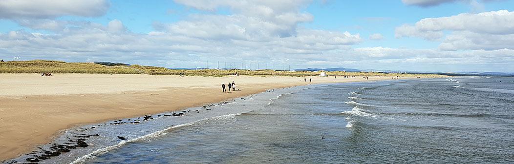 St Andrews beach banner