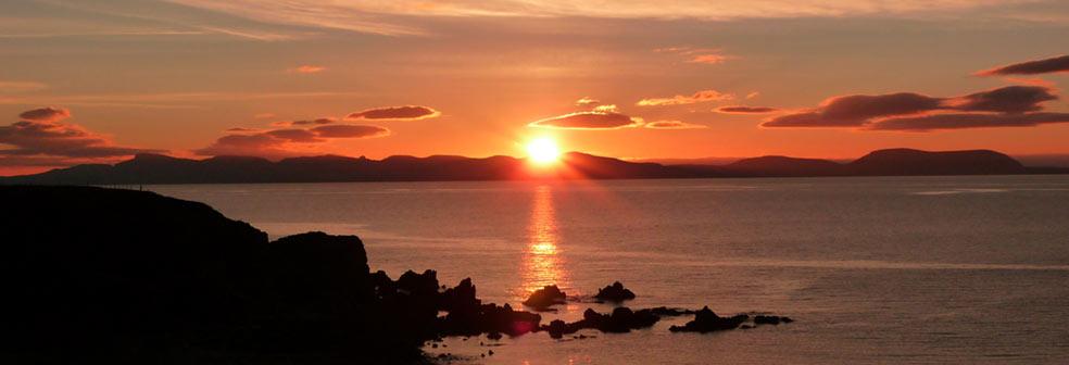 Sunset from Pebble Coast