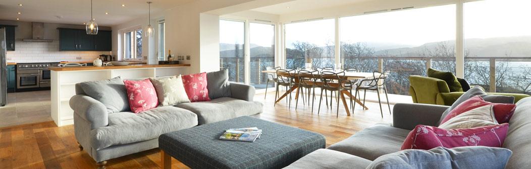 Open plan living area