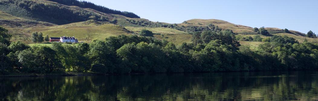 Upper Sonachan Farmhouse from Loch Awe